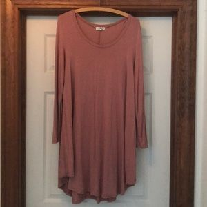 Size L Dusty Rose Piko Dress